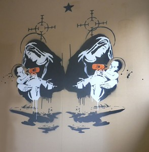 Toxic Mary Banksy Ausstellung in der Galerie Kronsbein in München