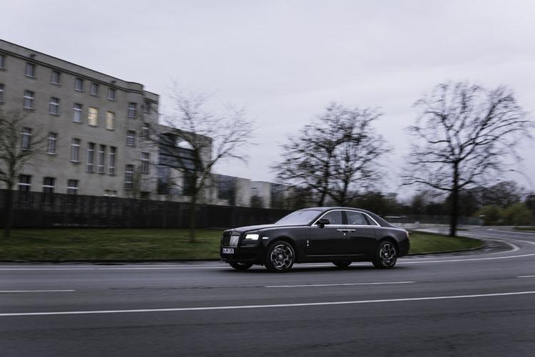 schwarzer Rolls-Royce Ghost