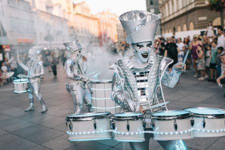 Trommler beim Karneval in Rijeka