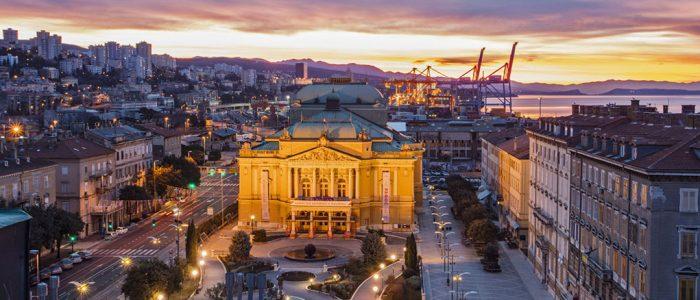 historisches Gebäude in Rijeka