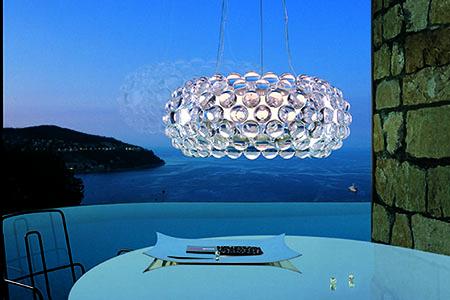 Caboche Lampe über Tisch
