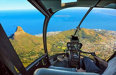 im helikopter landeanflug