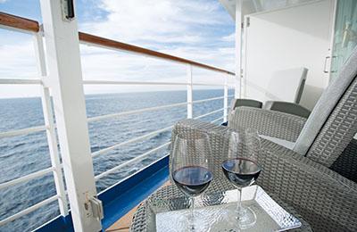 Balkon auf Kreuzfahrtschiff