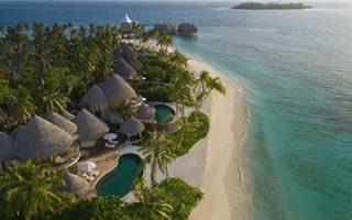Blick von oben auf das Nautilus Maldives