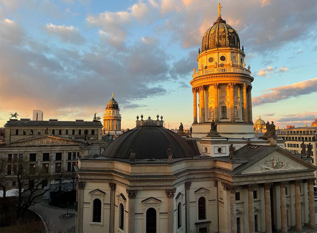 Blick vom Berlin Capital club auf den Gendarmenmarkt