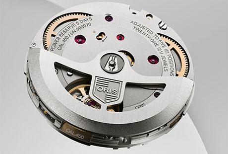 Rückseite des Uhrwerks Calibre 400