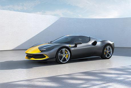Ferrari 296 GTB Assetto Fiorani schwarz gelb