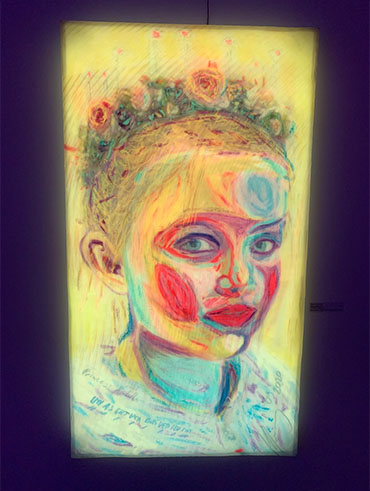 Kilian Saueressig Ausstellung in der kunsthalle messmer Titel Carlotta