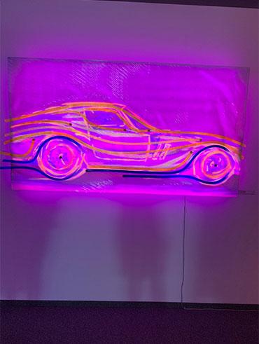 Kilian Saueressig Ausstellung in der kunsthalle messmer Auto