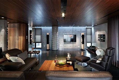 Wohnzimmer mit Echtholz in Kaohsiung City Taiwan