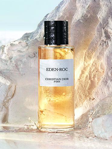 Eden-Roc Dior-Flakon im Felsen