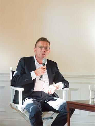 Ralf Rangnick im Club International Leipzig