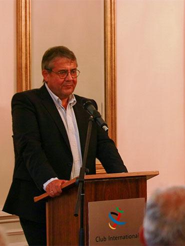 Sigmar Gabriel im Club International Leipzig